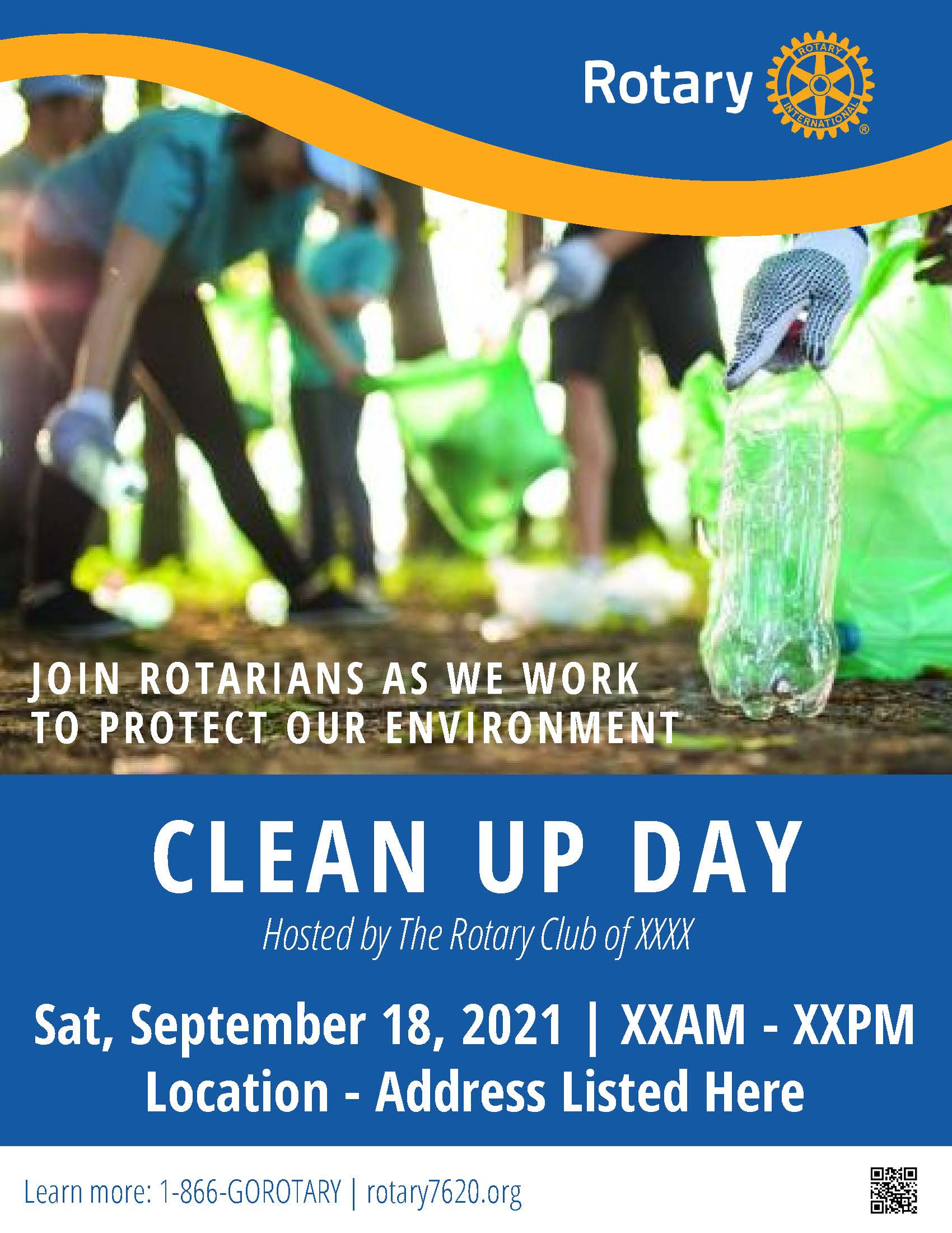Sept 18 Clean Up Day Poster